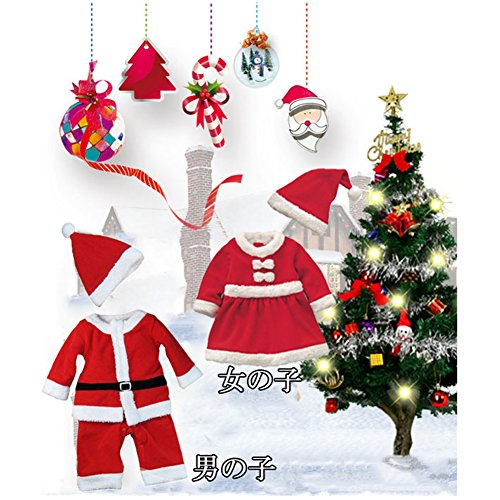 a9a1c9291fb2f ... COCO1YA(ココイチヤ) サンタ 衣装 女の子 帽子付き クリスマス パーティー クリスマス プレゼント ベビー服サンタワンピース ...