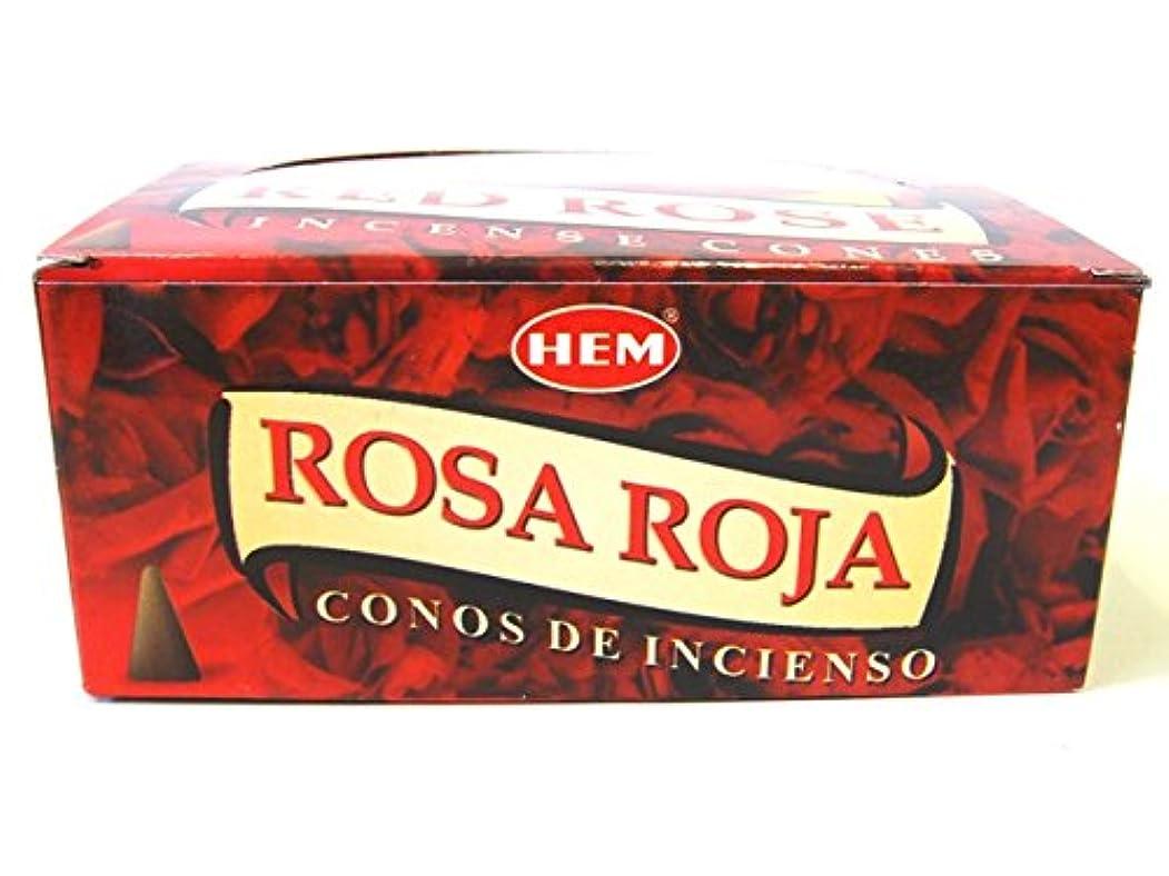 雪うま信頼HEM お香 レッドローズ(RED ROSE) コーンタイプ 1ケース(12箱入り) お香薔薇