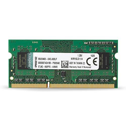Kingston ノートPC用メモリ DDR3L 1600 (PC3L-12800) 4GB CL11 1.35V Non-ECC SO-DIMM 204pin KVR16LS11/4 永久保証