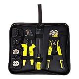 圧着プライヤー ワイヤーストリッパー Paron D4301 圧着プライヤーセット 自動ワイヤーストリッパー プロ 多機能 圧着工具 圧着ツール ストリッパー S2ドライバー スクリュー 予備端子 セット