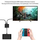 Type-C アダプター 【ELTD】Nintendo Switch用コンバーター  任天堂スイッチ  ドックセット HDMI変換 テレビ コンピューターに出力 (ブラック)