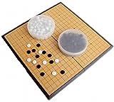 Amateras 囲碁 囲碁盤 セット 折りたたみ式 ポータブル マグネット石 大盤 37×37cm 初心者 プロ 兼用