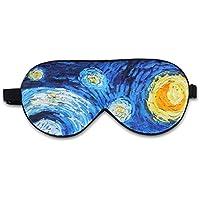 ALASKA BEAR Natural silk sleep mask & blindfold, super-smooth eye mask (One Strap, Starry Night)