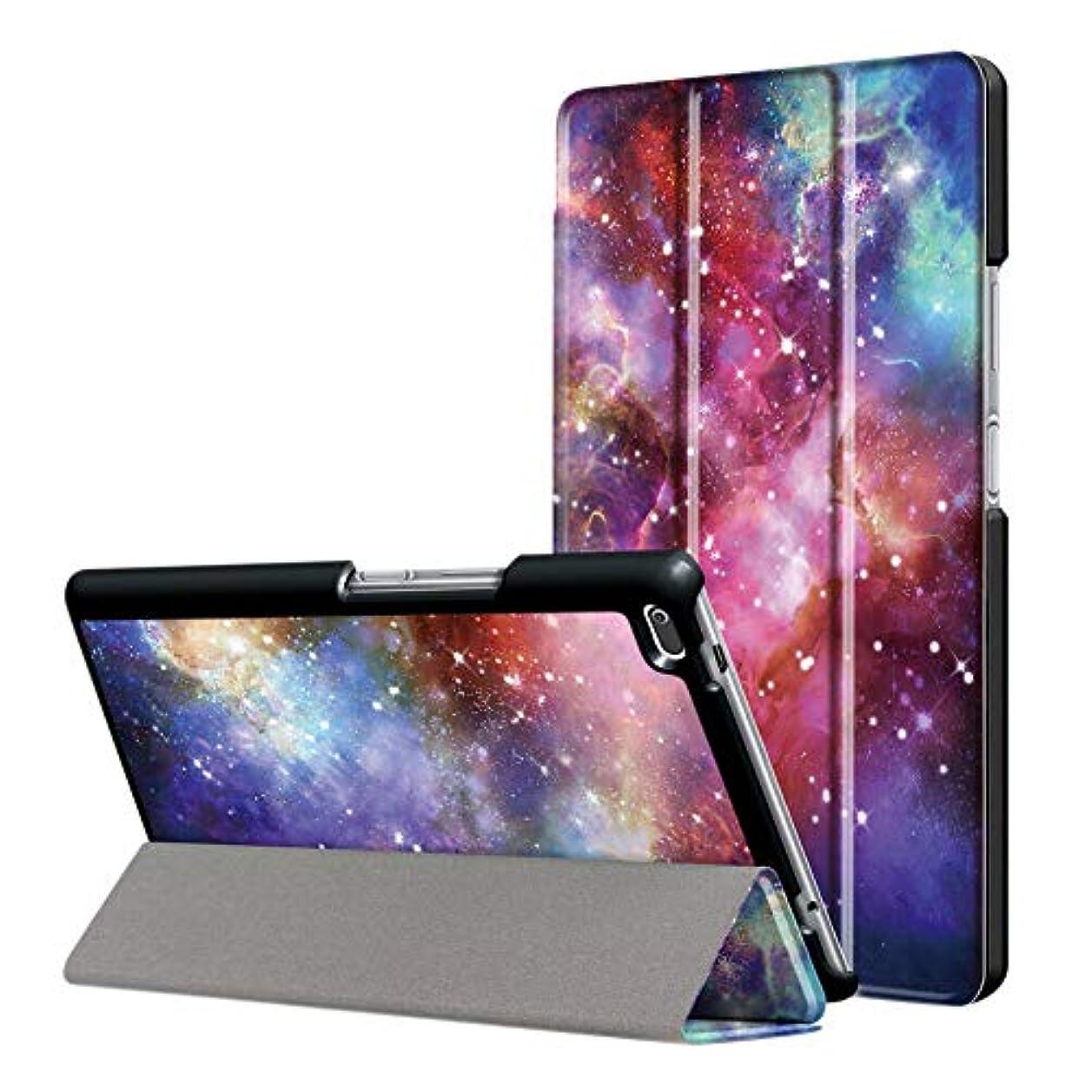 スラダム含めるなんとなくHenghx ケースカバー Lenovo Tab 4 8 TB-8504F TB-8504N Tablet(2017) スタンド機能付き 保護ケース 超薄型 防塵 耐衝撃 三つ折り パタン