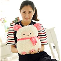 HuaQingPiJu-JP ぬいぐるみ35cmの羊のぬいぐるみぬいぐるみの羊のぬいぐるみ動物の羊のおもちゃ赤ちゃんの少年少年の子供の誕生日の贈り物(白)
