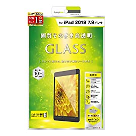 2019年 iPad 7.9インチ 液晶保護強化ガラス 光沢 TR-IPD197-GL-CC