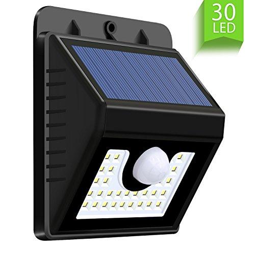 Wsky 30 LED ソーラーライト 3つモード センサーライト 人感センサー 太陽発電 省エネ ...