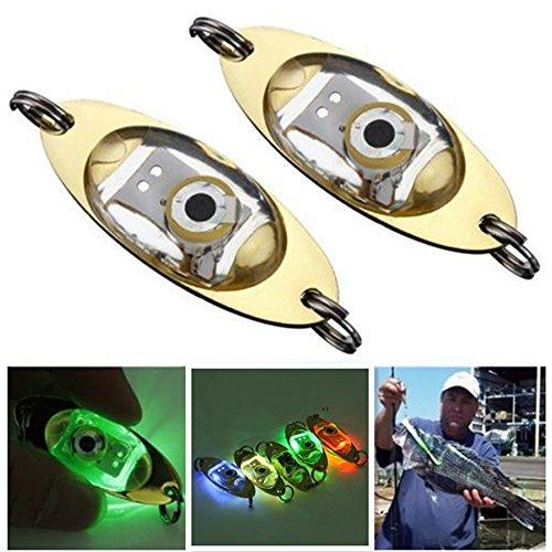Hidream 5 colors LED Fish Lure Light Fishing Squid Flashing Lamp Deep Drop Underwater