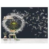 白黒タンポポ - 壁画家の壁紙寝室子供赤ちゃんリビングルームアート画像デコレーションMural290cm(W)×220cm(H)