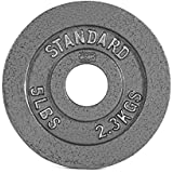 (2.3kg) - CAP Barbell 2.3kg Olympic Plate, Grey