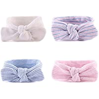 Chinatera 4pcs Baby Girl Headbands Bowknot Hair Band Turban Head Wraps