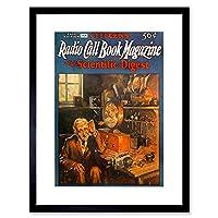 Magazine Book Call Radio 1928 Art Picture Framed Wall Art Print 雑誌の表紙本画像壁
