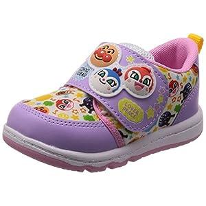 [アンパンマン] ベビー 運動靴 通学履き 靴 通園 ゆったり 軽量 マジック APM B19 パープル 13.5 cm 2E