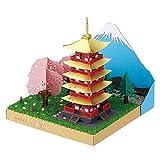 ペーパーナノ 富士の見える五重塔と桜 PN-144