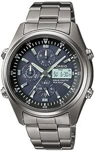 [カシオ]CASIO 腕時計 WAVE CEPTOR ウェーブセプター タフソーラー 電波時計 クロノグラフモデル チタンモデル WVQ-500TDJ-1AJF メンズ