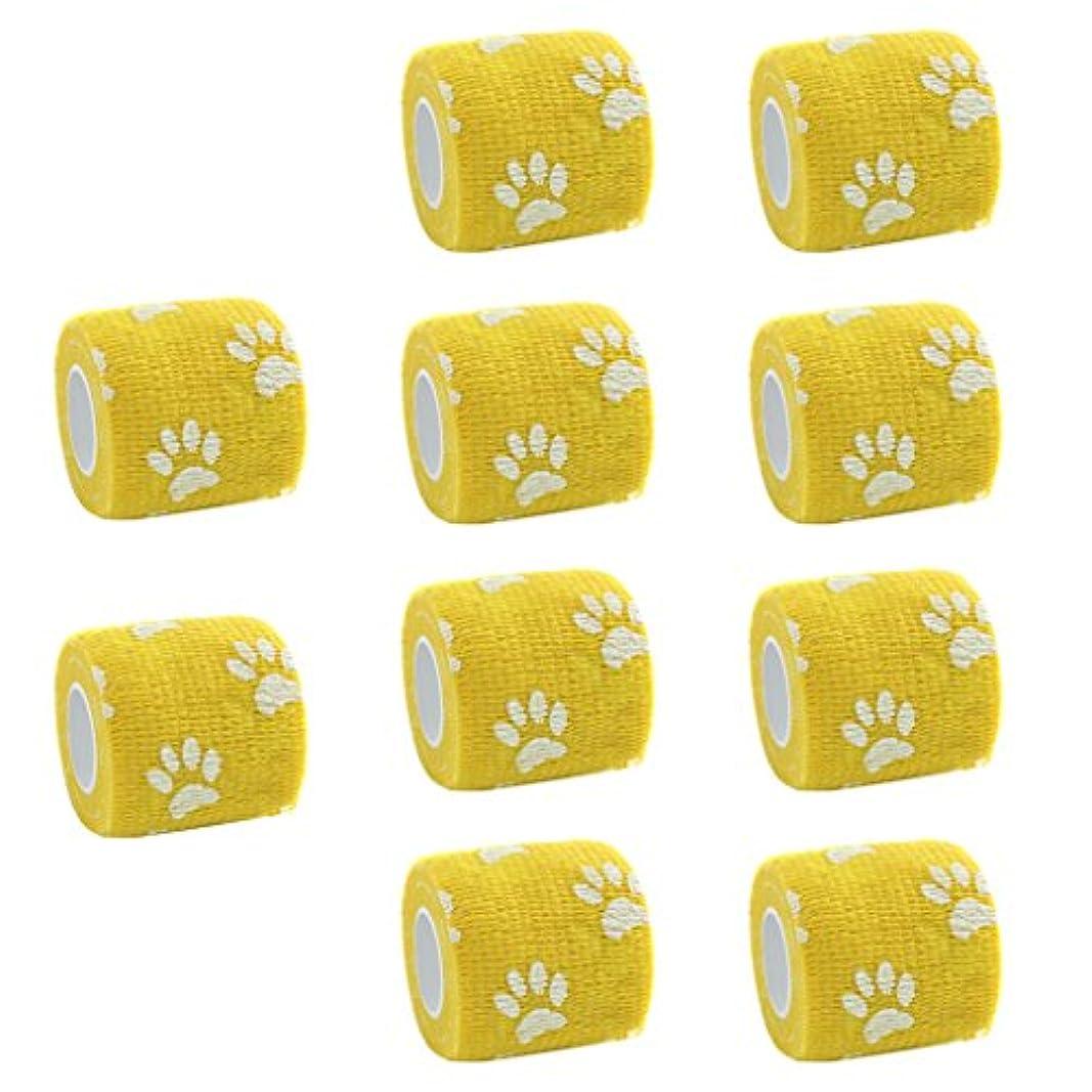 廊下詩オークションSunniMix 10個セット 不織布 粘着テープ 包帯 ガーゼ 包帯テープ 猫犬 ペット用 柔軟性