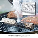 Pellet Smoker Tube for Barbecue Hexagonal Stainless Steel BBQ Pipe Outdoor Mesh Grill Smoke Generator
