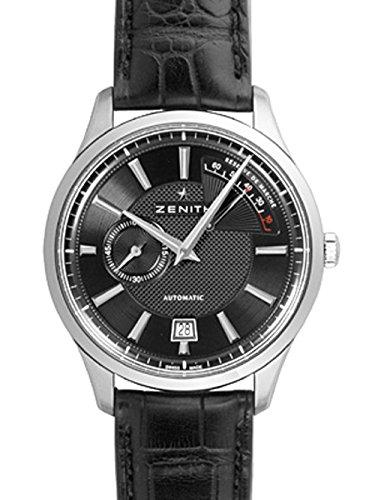 [ゼニス] ZENITH 腕時計 エリートキャプテン SS/レザー ブラック 03.2120.685/22.C493 新品 [並行輸入品]