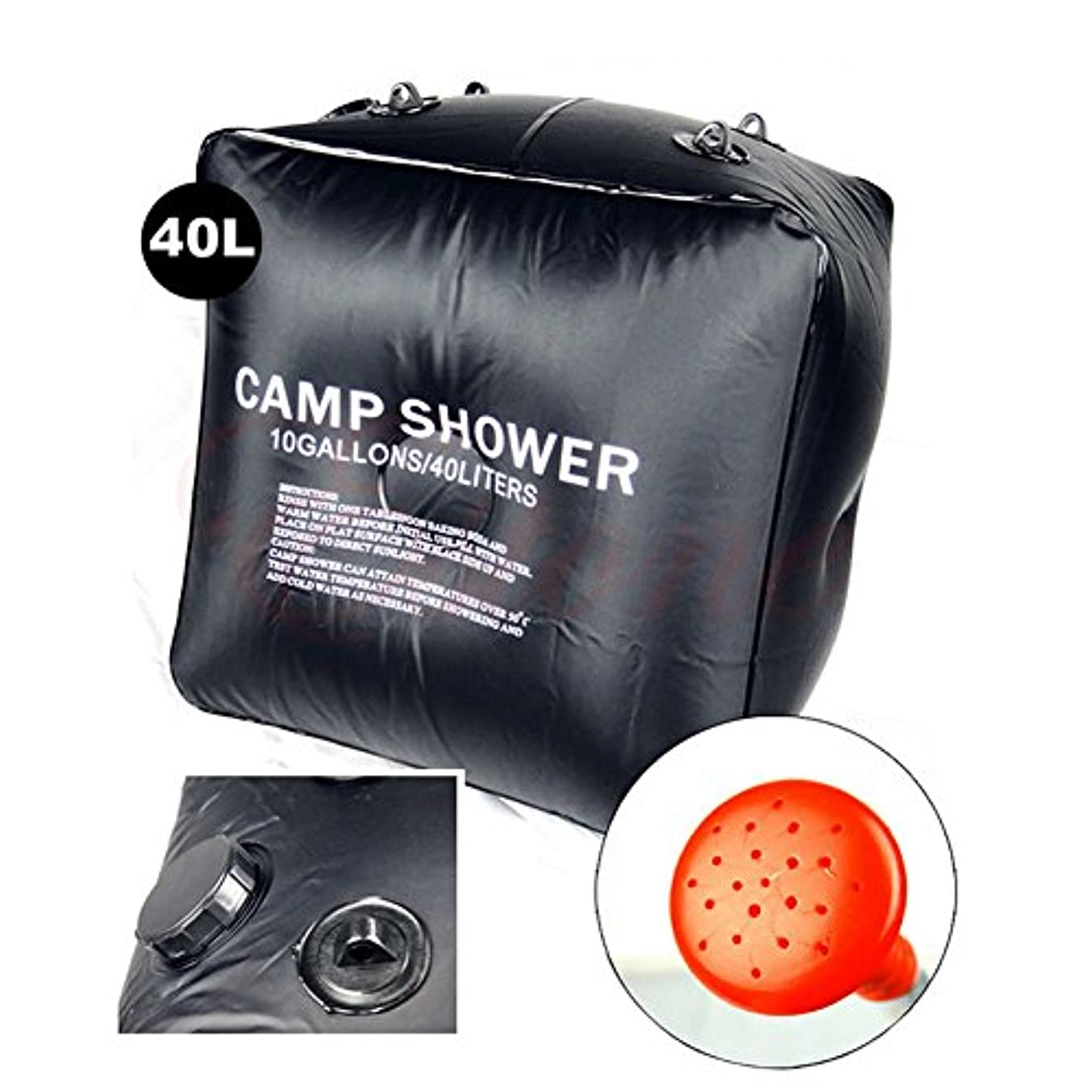 ホイール憤る最も遠い40L ポータブルソーラー温熱シャワー水浴バッグ アウトドア キャンプ ハイキング キャンプ