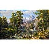 Diyの油絵子供のためのデジタル油絵大人初心者16x20インチ、山の景色--クリスマスの装飾ホームインテリアギフト (フレームなし)