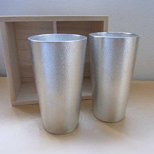 能作 ビアカップ2ヶセット(桐箱入) e00117