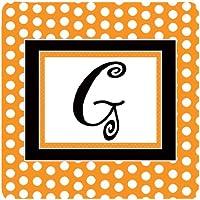 Caroline's Treasures CJ1033-GFC Monogram-Orange Polkadots Foam Coasters (Set of 4), Initial Letter G, 8.9cm H x 8.9cm W, Multicolor