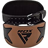"RDX Weight Lifting Belt Cow Hide Leather 6"" Double Prong Back Support Crossfit Training Gym Fitness Workout Exercise Bodybuilding"