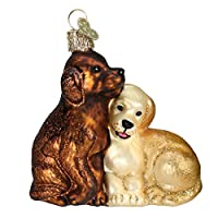 Old World Christmas Puppy Love Glass Blown Ornament by Old World Christmas