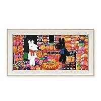 リサとガスパール アートフレーム キャンディーハウス ワイドSサイズ