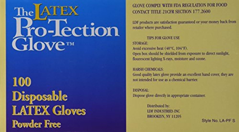 上記の頭と肩観客決定的(1 Box) - Disposable Latex Gloves, Powder Free, Size: Small, 100 Count
