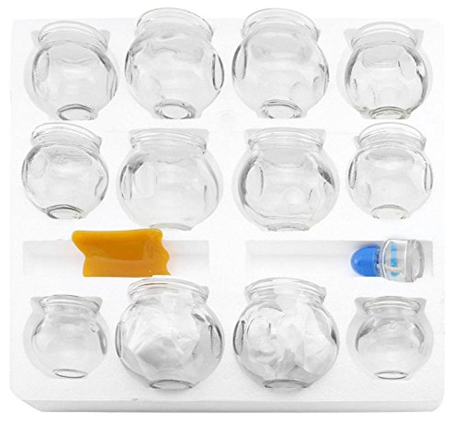 注釈アンテナ協同12 pcs厚いガラスカッピング療法セットfor Professionals ( 2カップ# 5 ~ 2.87