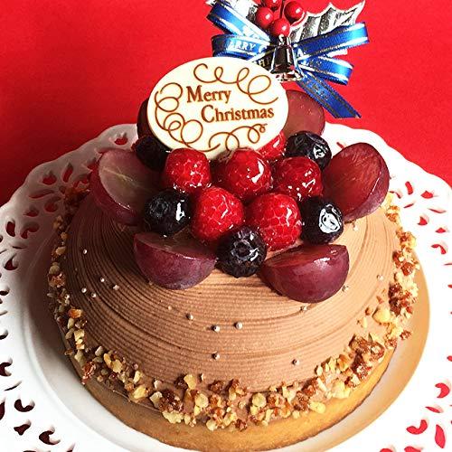 クリスマスケーキ 予約 2019 Xmas 木苺のチョコレートクリスマスケーキ 16cm【プレート・キャンドル・ヒイラギ付】お取り寄せ 人気 ケーキ タルト スイーツ