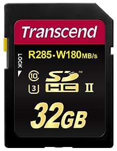 Transcend SDHCカード 32GB UHS-II U3対応 (最大読込速度285MB/s,最大書込速度180MB/s) U3シリーズ 4K動画撮影 無期限保証 TS32GSD2U3