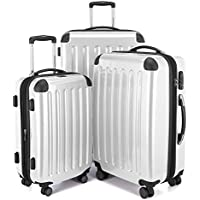 Hauptstadtkoffer Alex Set of 3 Luggages Suitcase Hardside Spinner Trolley Expandable TSA, White, Set