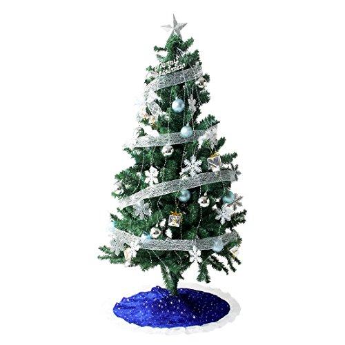 タンスのゲン クリスマスツリー 150cm オーナメント 10種 LED 8パターン イルミネーション付き シルバー 16910003 13AM 【64524】