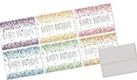 72 Birthday Note Cards - Confetti Birthday - Blank Cards - Gray Envelopes Included [並行輸入品]