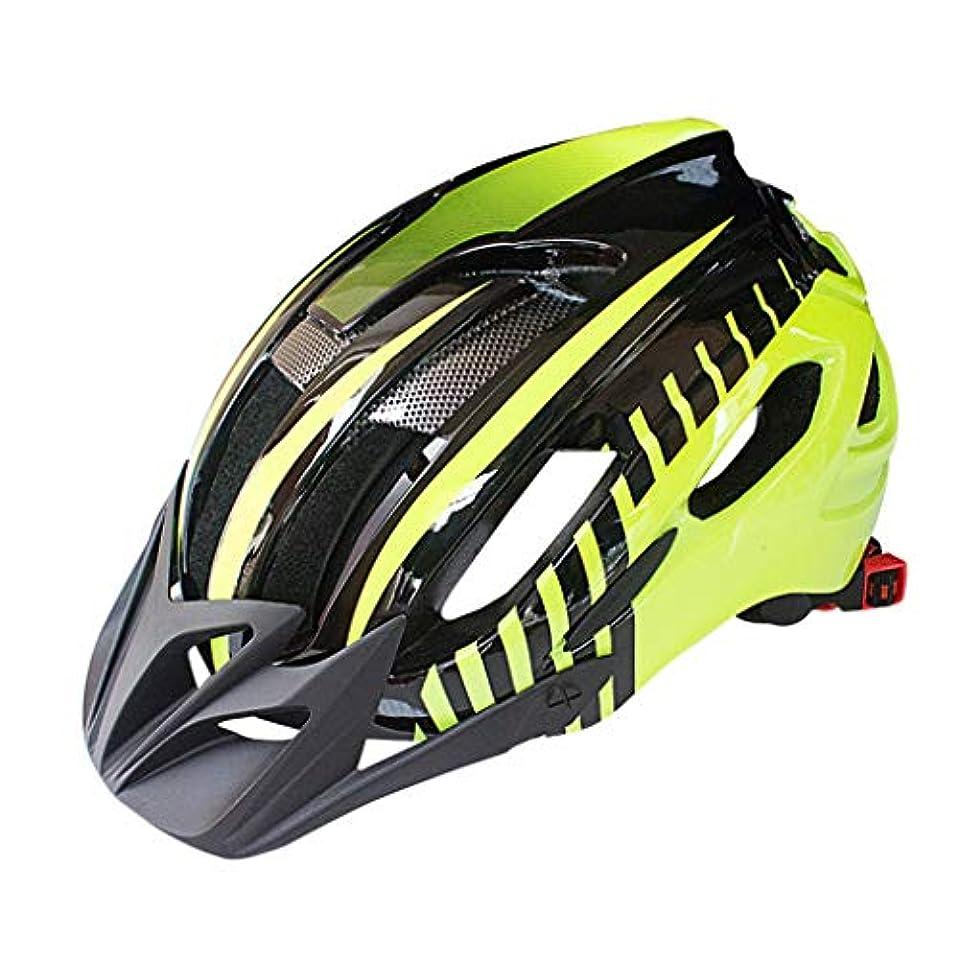 吐き出すレジディベート自転車用ヘルメット、通気性に優れた安全ベント自転車用ヘルメット(13個の通気孔とテールライト付き)、調節可能な軽量のマウンテンサイクルヘルメット(大人用の男性と女性用アウトドアライディング用)
