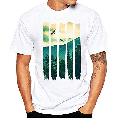 Tシャツ Hosam メンズtシャツ 半袖 丸首 夏着 白t...