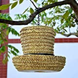 QYSZYG Bird Food Cup/Waterproof Bird Feeder with Cover/Environmentally Friendly Resin Material Can Be Suspended Garden Decoration