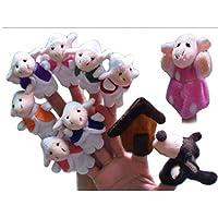 YChoice 興味深い指人形 おもちゃ 10個セット フラシ天 指人形 狼の物語と7つのランプの物語