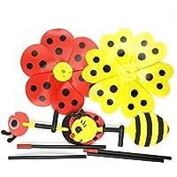 Bumble Bee Ladybug風車Wind Spinner子供面白いおもちゃホームヤードガーデン装飾装飾アクセサリー