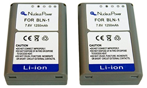 Nucleus Power 互換バッテリー 2個セット オリンパス BLN-1 互換BI-2-O(BLN)