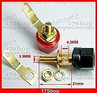 FENGYI KEJI 10 PCS Gold plating Binding Post for 4MM jack Banana plug Speaker Amplifier