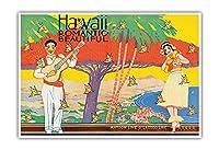 美しいハワイロマンチック - (サンフランシスコから)マトソン・ラインのアールデコ調カバー(ロサンゼルス)からLasscoライン観光パンフレット - によって作成された W. テイラー c.1931 - アートポスター - 23cm x 31cm