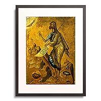 Byzantine icon 「Johannes der Taufer.」 額装アート作品