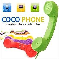 松平商会 iPhone4/4S、5/5S 6/6S 各種スマートフォン対応 スマホ受話器 cocophone ブラック