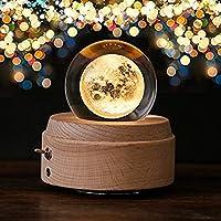 「最新版」オルゴール 誕生日プレゼント 間接照明 おしゃれ LEDライト 月のランプ USB充電式 投影 クリスタル ボール インテリア かわいい 癒しグッズ 記念日 就職祝い 出産祝い 取扱説明書つき (エリーゼのために)