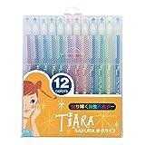 サクラクレパス 水性ボールペン ボールサイン ティアラ 12色 PGB12TN