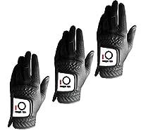 指2017新しいMens Rainグリップドライヤーゴルフ手袋値3パックDealsすべてホワイトブラックWorn on Left Hand LH耐久性夏ベルクロ