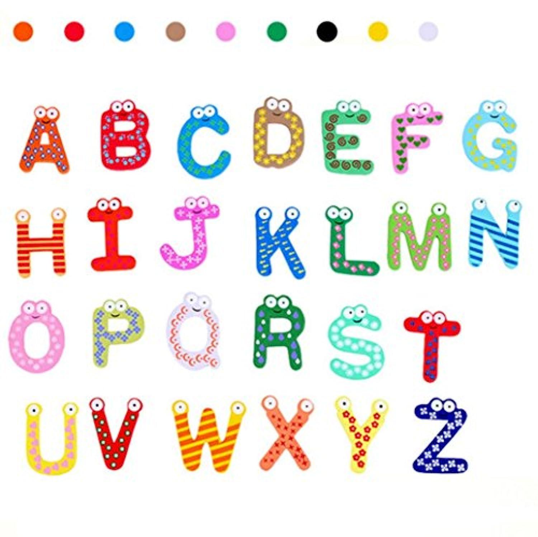 elevin ( TM ) 26文字冷蔵庫マグネット子供赤ちゃん教育玩具バスおもちゃクリスマスおもちゃ